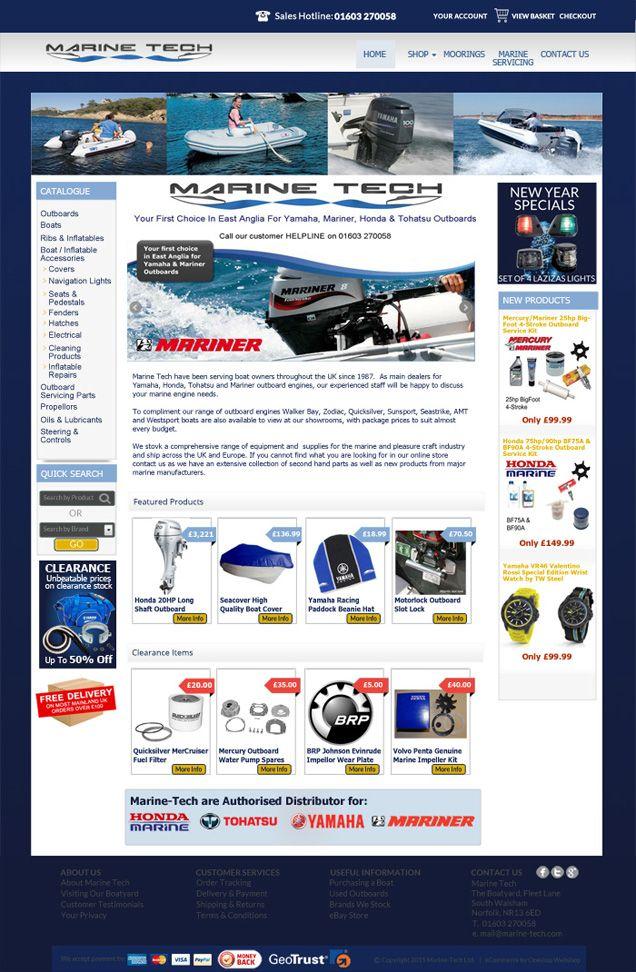 Web Shop design concept for Marine-Tech, South Walsham based on Sellerdeck #eCommerce platform