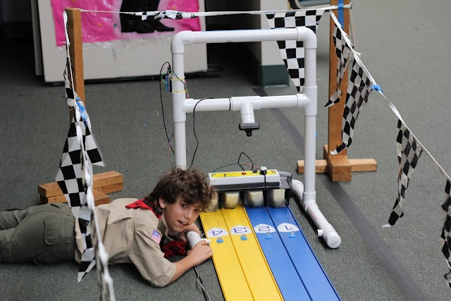 An instant replay camera for Pinewood Derby tracks