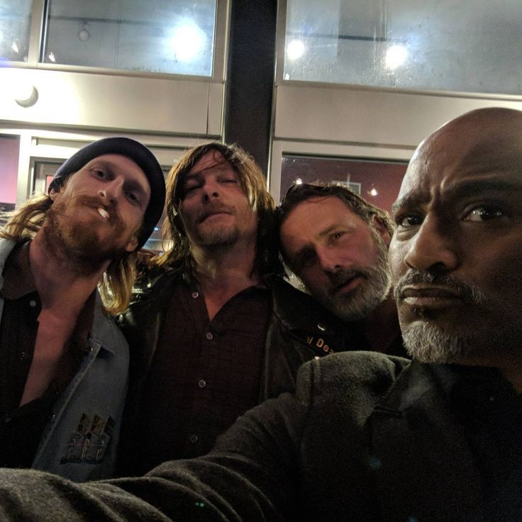Austin Amelio, Norman Reedus, Andrew Lincoln and Seth Giliam