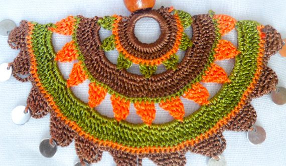 Handmade Crochet Necklace Traditional Turkish by ForGoodPeople