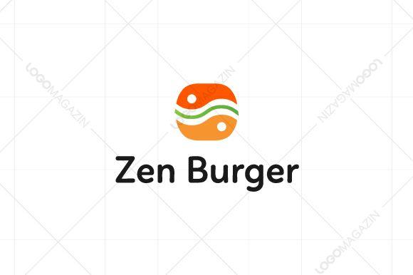 Zen Burger Sandwich Logo - Logos - 1