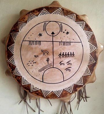 Turkic shaman drum (Tengriism drum) from Central Turan !