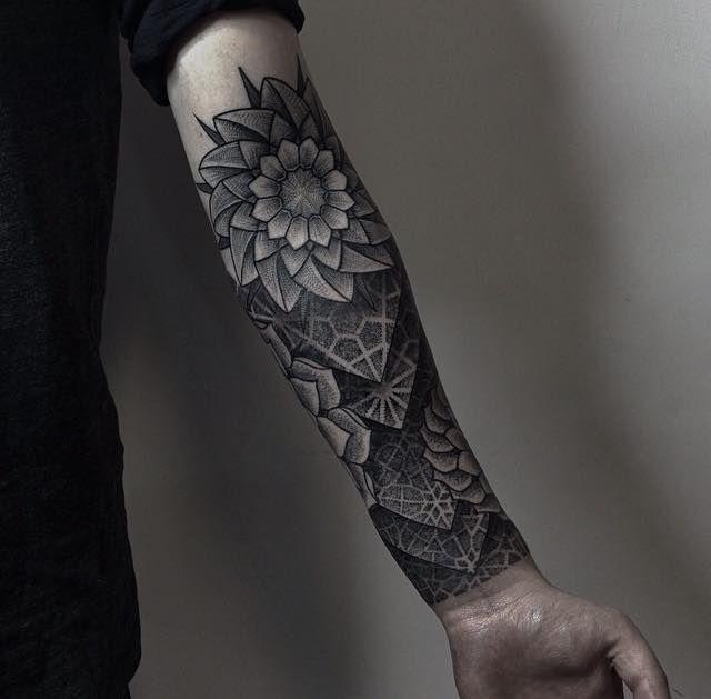 11 best Black Flower Forearm Tattoo Design Men images on Pinterest ...