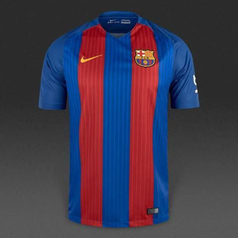 Barcelona 2016/17 Home Men Soccer Jersey MESSI #10 - zorrojersey