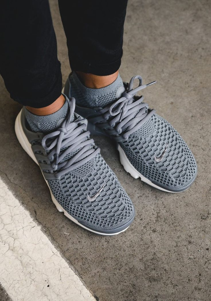 "Tendance Chausseurs Femme 2017 Description unstablefragments2: ""NIKE Wmns Air Presto Flyknit 'cool grey' (via Kicks-daily.com) """