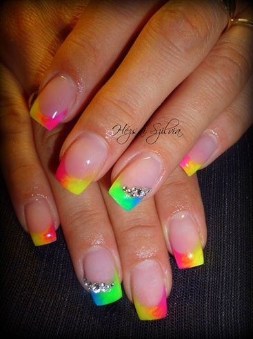 neon by HezsaiSzilvia - Nail Art Gallery nailartgallery.nailsmag.com by Nails Magazine www.nailsmag.com #nailart