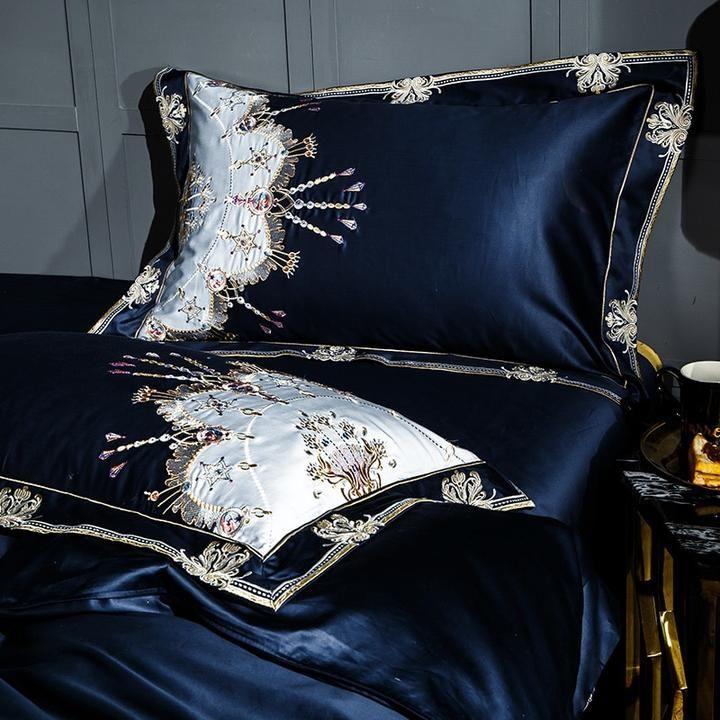 1000tc Egyptian Cotton Luxury Bedding Set With Embroidery 4 Colors Egyptian Cotton Duvet Cover Luxury Bedding Bedding Set