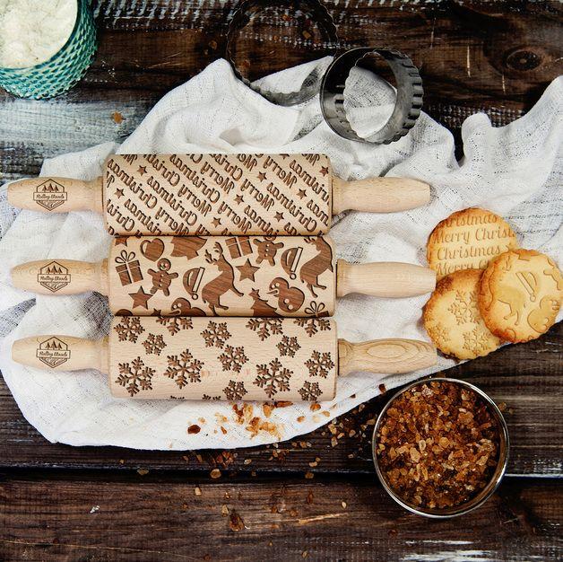 Christmas - Zestaw - 3 MINI wałki do ciasta
