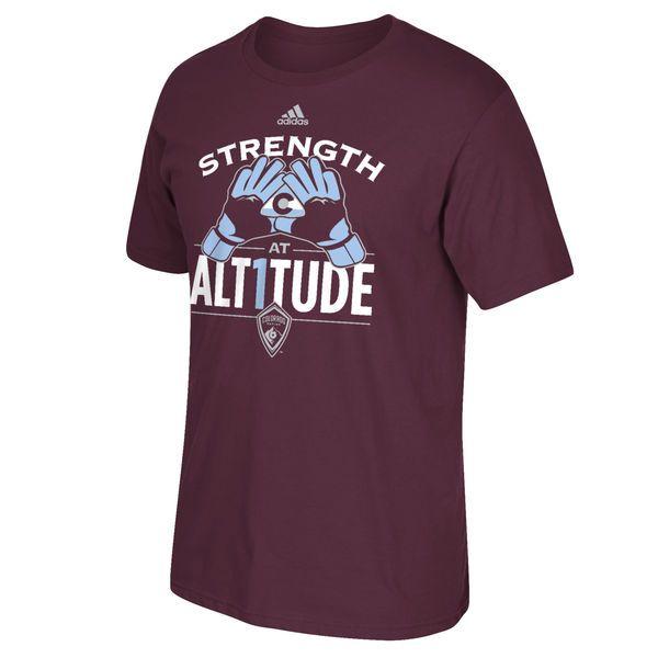 Tim Howard Colorado Rapids adidas Strength at Alt1tude  T-Shirt - Burgundy