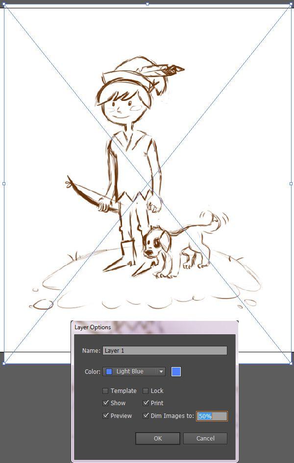 Illustrator - vetorizando sketchs