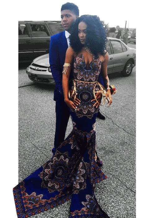 Girl S African Themed Dress Called Tacky For Prom By