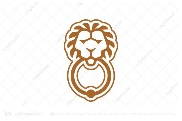 Logo for sale: Simple Door Knock Logo. Simple and unique lion door knock logo. The symbol itself will looks nice as social media avatar and website or mobile icon. door knock lion realtor realty realty estate agent property house home housing properties condominium appraiser appraisal welcome welcoming buy purchase sell on sale sold product business brand design graphic unique recognized professional software apps app applications application logo logos