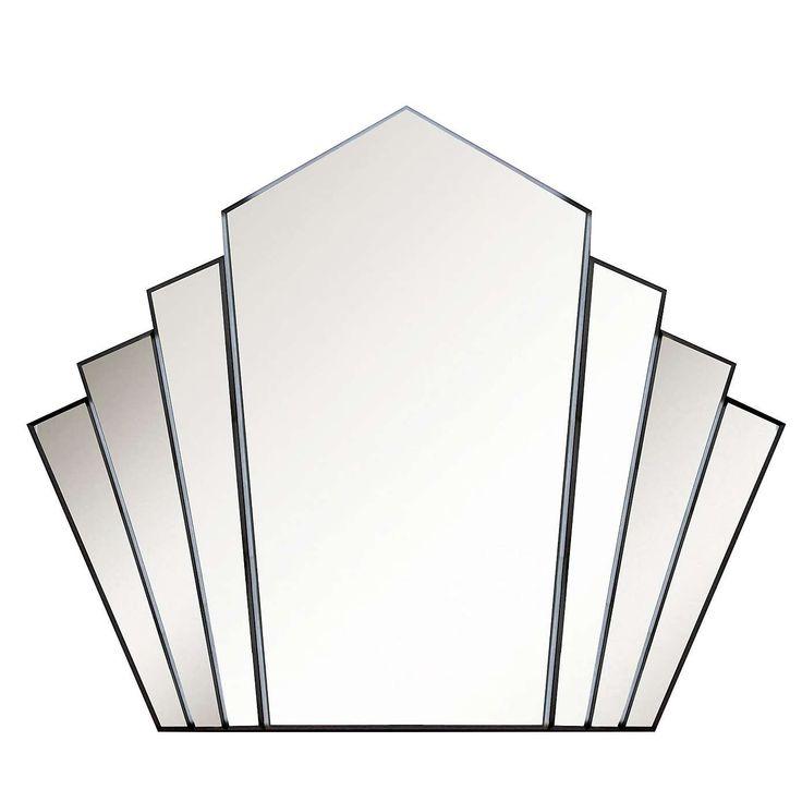 Deco Fan Mirror   Dunelm
