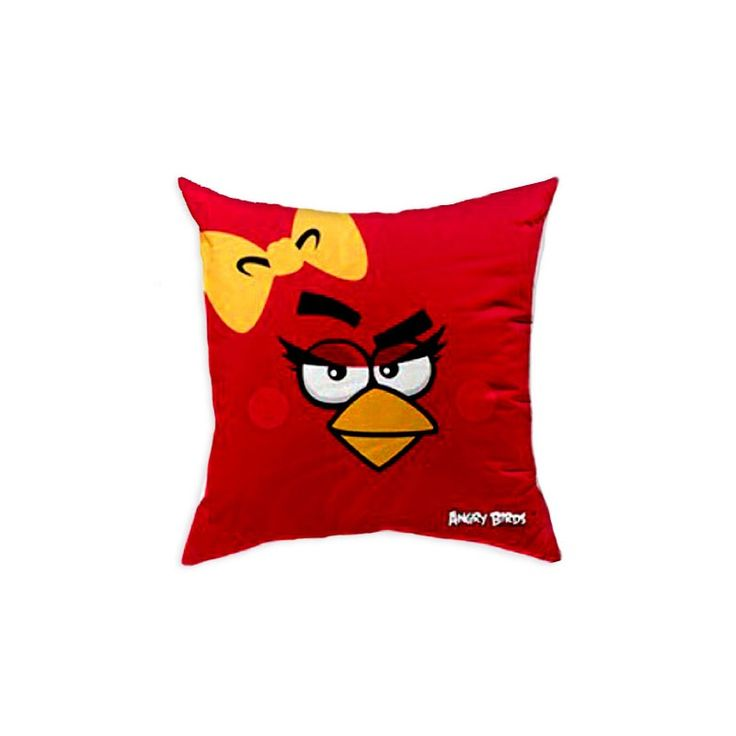 Poduszka Angry Birds AB016 pretty bird Poszewka 100% bawełny, Wypełnienie 100% poliester. Rozmiar: 40x40cm. www.halantex.pl