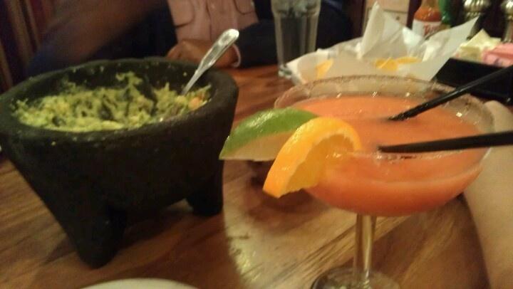 Plaza Azteca, Mexican restaurant in Methuen, Ma. Guacamole and alcohol.