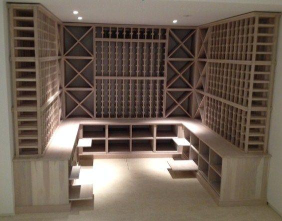 Limed Oak Wine Cellar