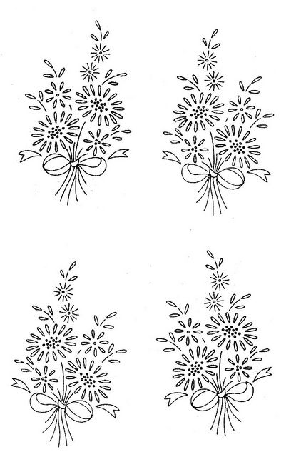 Vintage Embroidery Patterns - reminds me of the ones my grandma did.