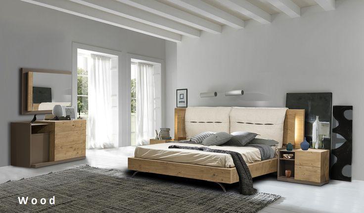 Wood σύνθεση κρεβατοκάμαρας