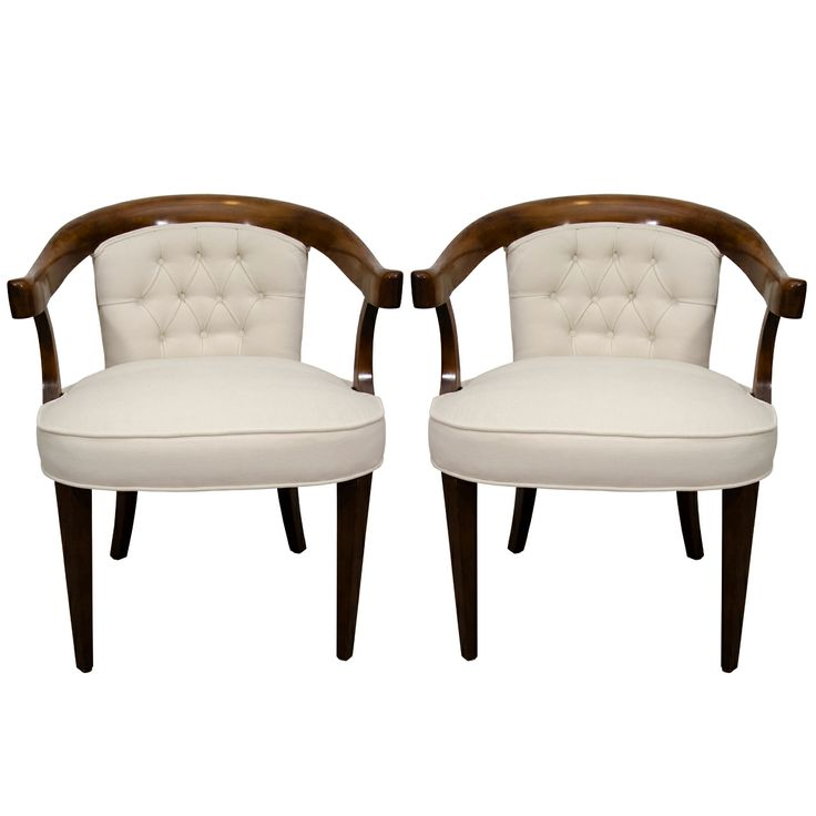 A Pair Of Vintage Baker Chairs Armchairs And Baker Furniture