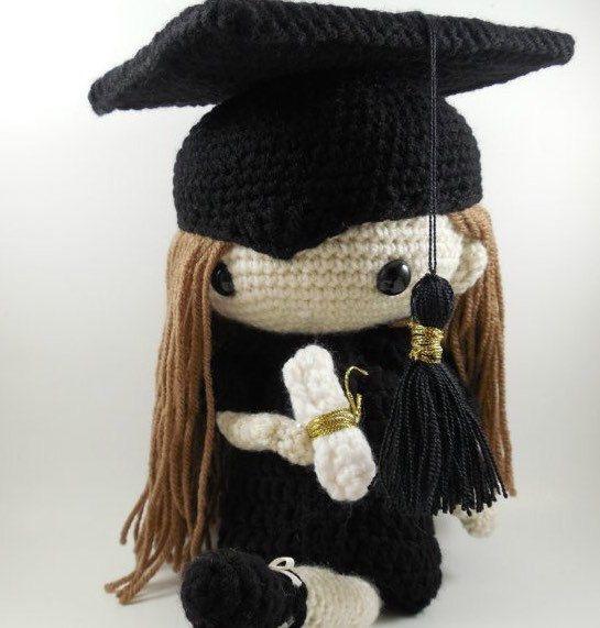 Hand Crochet Graduation Doll