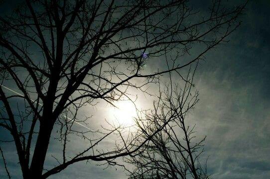 Dark sky in a sunny day!