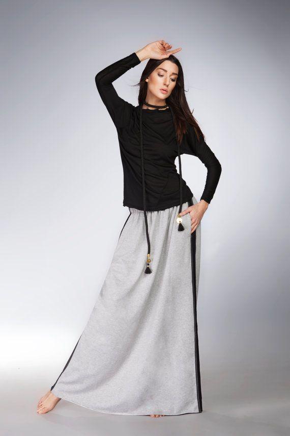 Alinamalina Maxi Skirt  XXL Yoga Skirt  Casual by AlinamalinaShop