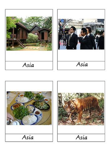 Asia continent cards