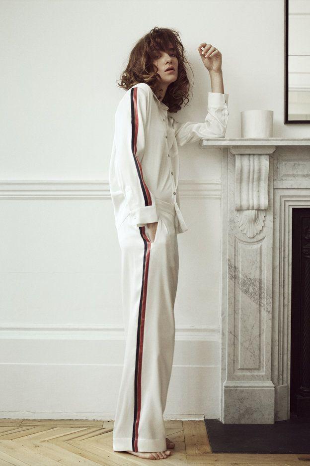 ここ数年、ラウンジウェアのトレンドはシャツパジャマ。そのバリエーションは、日本でもヨーロパでも豊富ですが、今展で目を引いたのは、そのシャツパジャマをコーディネートや柄の入れ方でアレンジした、「パジャ...