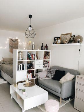 Idée deco pour aménager un studio de 30m2, c'est possible d'avoir son coin nuit et en plus c'est cosy ! #decoration #studio #cosy