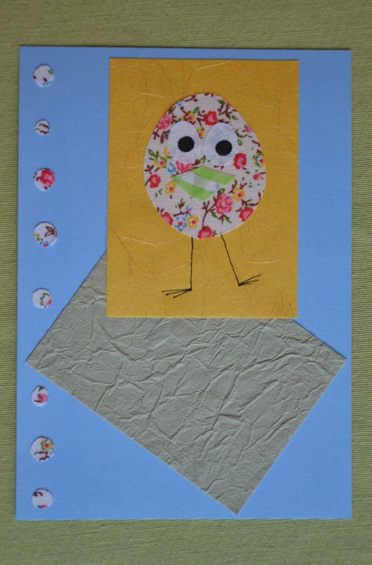 Carte oiseau avec tissu adhésif par Decorationgles