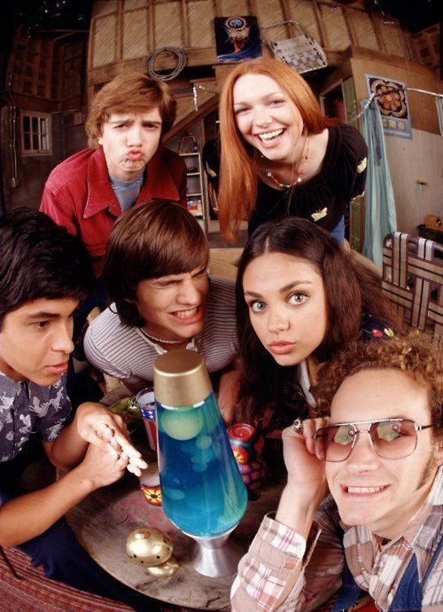 That 70's Show starring Danny Masterson, Mila Kunis, Laura Prepon, Ashton Kutcher, Topher Grace, Wilmer Valderrama