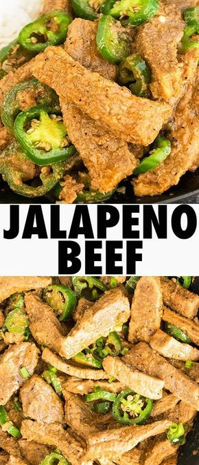 Easy Chinese JALAPENO BEEF recipe is a quick 30 minute meal. This one pan jalapeno beef stir fry recipe has a sweet and spicy flavor and is an easy weeknight dinner. From cakewhiz.com