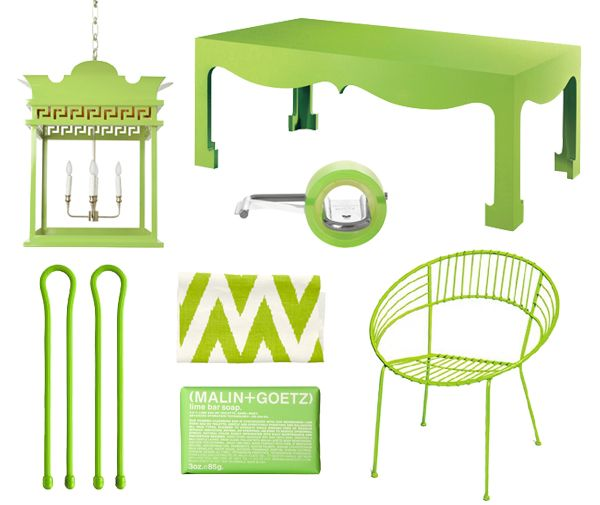 Lime Green Home Accessories - Lime Green Decor - House Beautiful