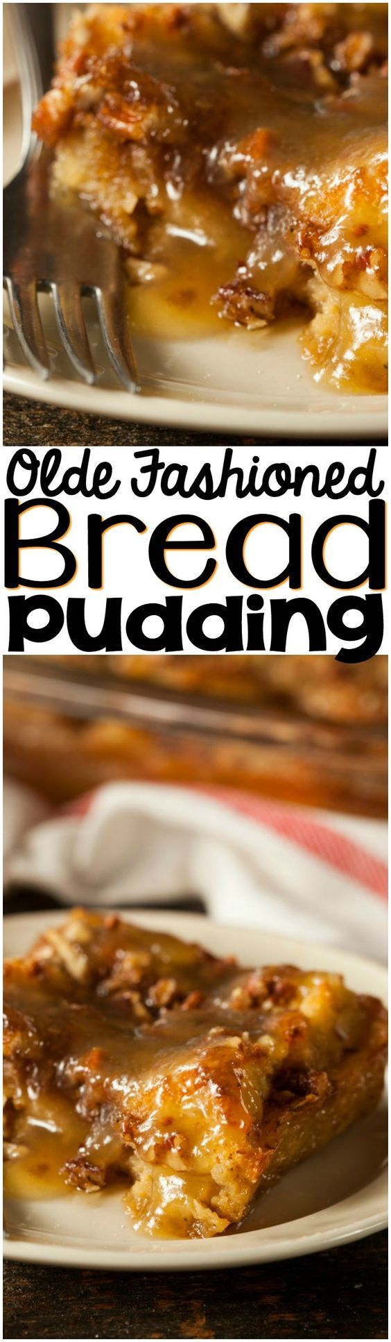 A twist on a traditional recipe, this Old Fashioned Bread Pudding with Rum Sauce is to die for!   #recipe #traditional #breadpudding #rum #sauce #dessert #easy