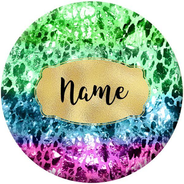 Glam Name Badges Designs #001 - 75mm