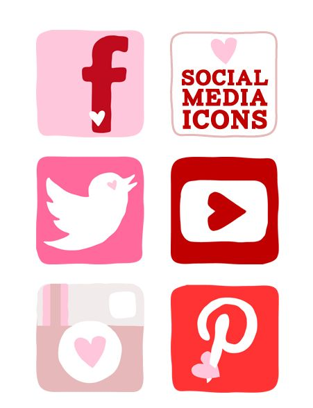 The patchwork heart facebook icons