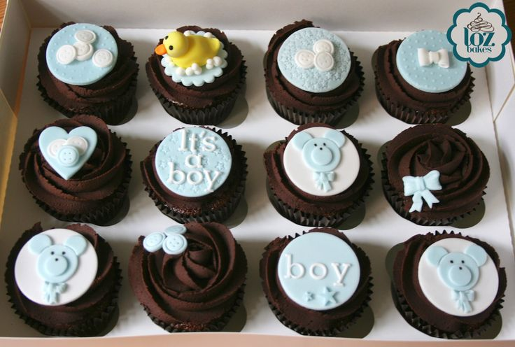 Cute baby shower cupcakes 💙