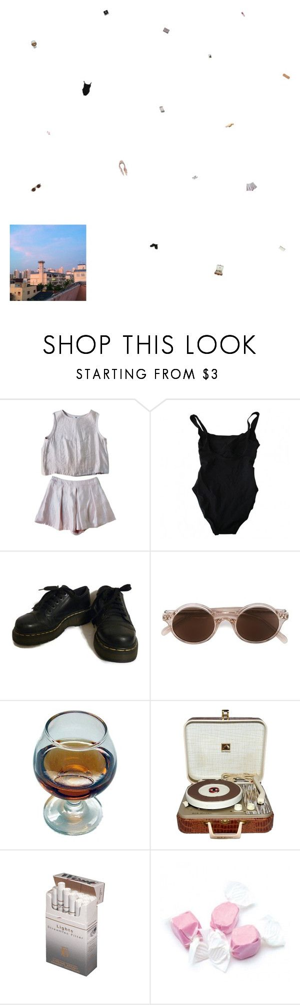 """""""we could go back to woodstock where they don't know we are"""" by the-soft-parade ❤ liked on Polyvore featuring Eres, Dr. Martens, NARS Cosmetics, CÉLINE, RCA, CO, Salt Water Sandals and vintage"""