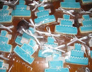 Guest favours - custom cookies.