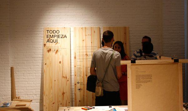 wooden pylon  http://www.behance.net/gallery/2610841/TODO-EMPIEZA-AQUI_
