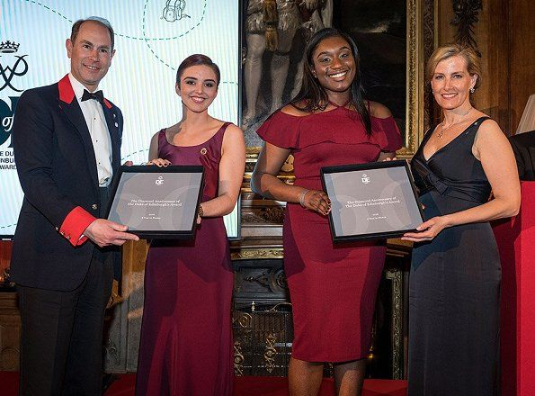 In the evening of March 28, 2017, Prince Edward, Earl of Wessex and Sophie, Countess of Wessex held a dinner at Windsor Castle in Berkshire, to thank those who helped the Duke of Edinburgh's Awards (DofE) in their Diamond Anniversary year.