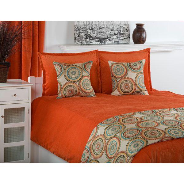Orange Comforter Orange Bedding Modern Bedding Post