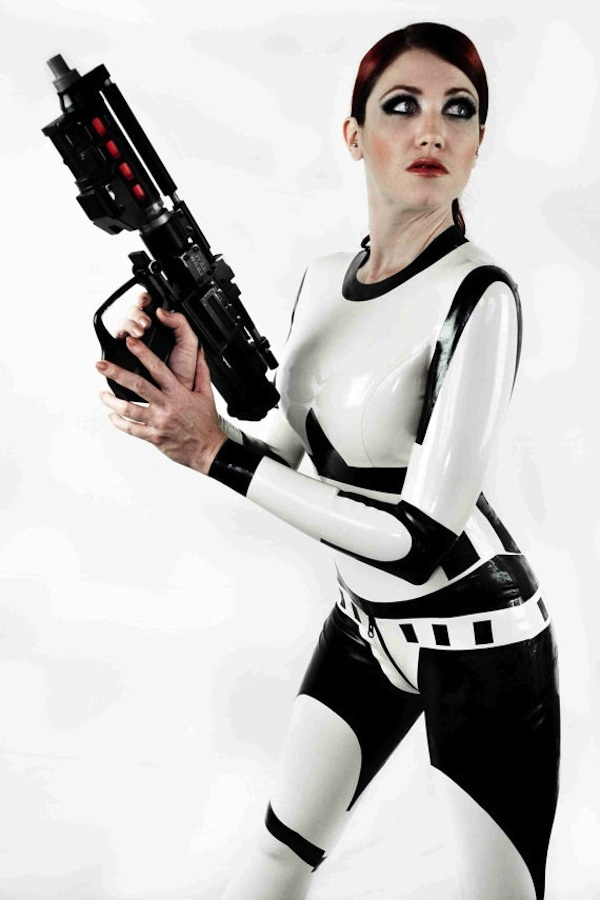 Incredibly Sexy Stormtrooper Latex Costume [Cosplay], Star Wars