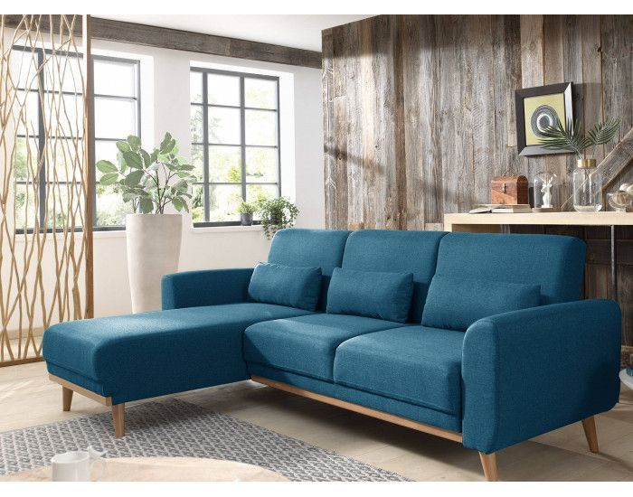 Vera Canape D Angle Reversible Convertible Au Style Scandinave En Tissu 246x88x149cm Industrialinterior Living Room Decor Home Decor Furniture