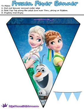 Anna, Elsa, olaf and snowgies banner | Frozen Fever Free Printables and Crafts | SKGaleana