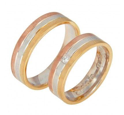 Βέρες #Bonise WE416455ZB#wedding_ring #whitegold #gold #red_gold #marriage #proposal #love #faith