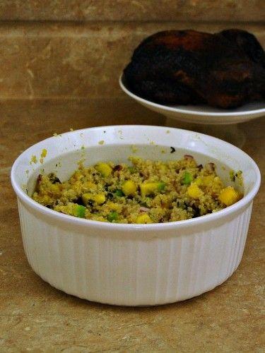 Mango Avocado Quinoa Salad #vegetarian #sidedish