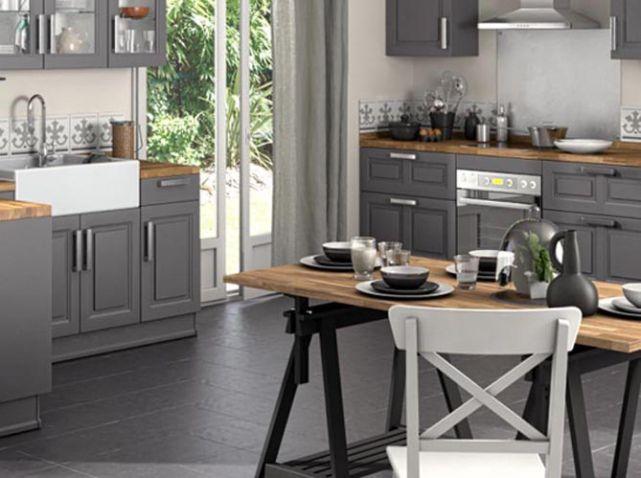 Cuisine avec table treteau lapeyre id es pour la maison pinterest cabinets tables and - Cuisine avec table ...