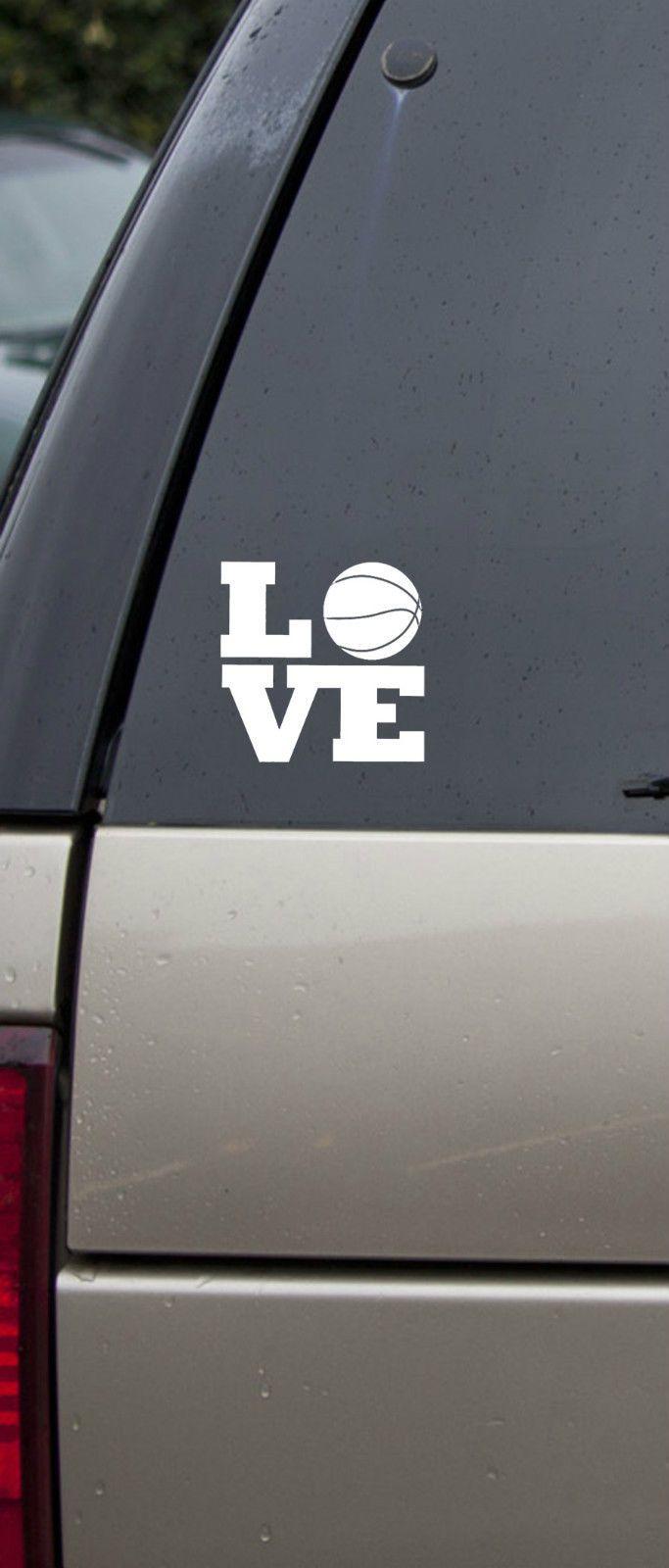 Basketball Love Vinyl Decal Car Sticker Car Decals Vinyl Vinyl Decals Car Stickers [ 1600 x 683 Pixel ]