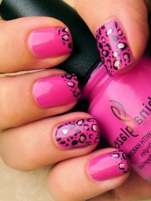 Leopard French Nail Design